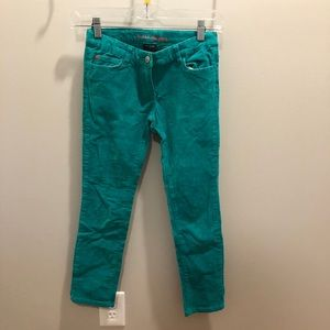 Mini Boden Size 9Y Teal Blue Corduroy Pants